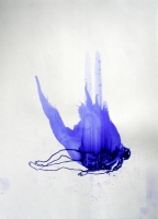 009_____ink blown onto paper with power tool blower
