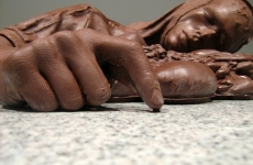 ON THE ROAD TO HEAVEN THE HIGHWAY TO HELL _______remnants of the suicide bomber / chocolate / 75X30X88 cm / 2008