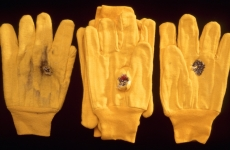 33 THINGS TO STOP A BULLET_______stacked gloves fired upon point blank with a shotgun, the shot terminated on 33-rd glove /1998