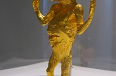 IF JESUS HAD BEEN AN ABORTION HOW HAPPY WE WOULD BE_______15 x 7 x 4 cm, 24 karat gold plated cast bronze / 2009 / Edition of 3 + 1 AP